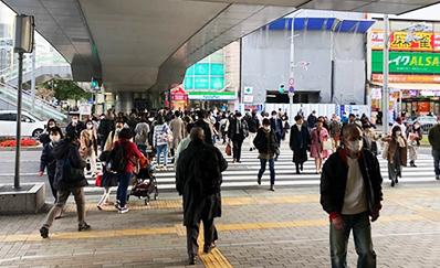 三ノ宮駅(JR)西口からのアクセス
