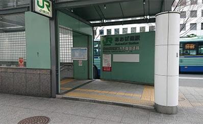 あおば通駅(JR)からのアクセス