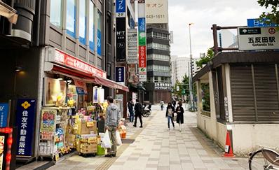 五反田駅(JR)からのアクセス