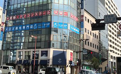 松山市駅からの道順4